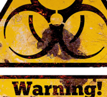 Warning - Industrial Waste! Biohazard! Sticker