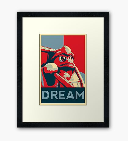 Dedede For President Framed Print