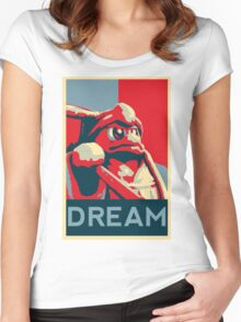 Dedede For President Women's Fitted Scoop T-Shirt