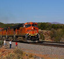 Engine 7560 Climbing Toward Mountainair, New Mexico by Mitchell Tillison