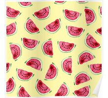 Sweet watermelon slices pattern Poster