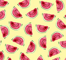 Sweet watermelon slices pattern by gleolite