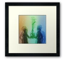Kingdom Hearts Design Framed Print