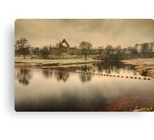 Stepping Stones on the River Wharfe Canvas Print