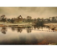 Stepping Stones on the River Wharfe Photographic Print