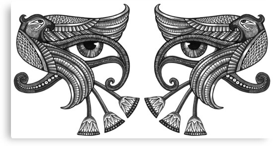 Eye of Horus - Dual / Mirrored by Anita Inverarity