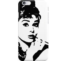 Audrey Hepburn black iPhone Case/Skin