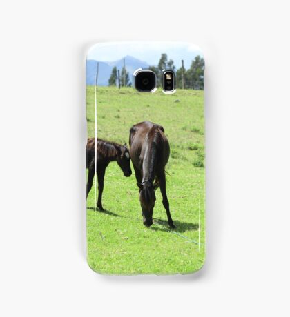 Mare and Colts on a Hill Samsung Galaxy Case/Skin