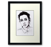 Big eyelashes Framed Print