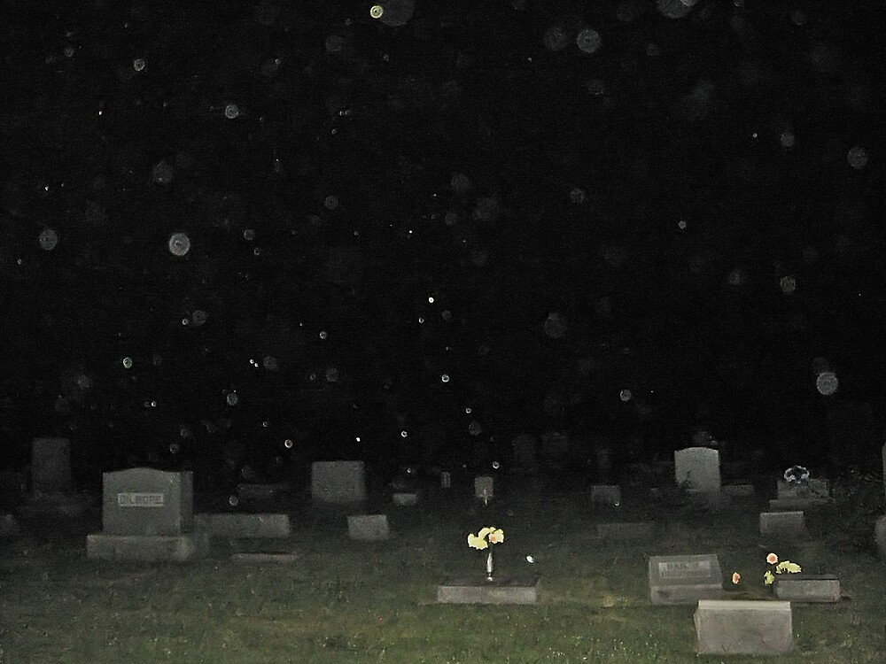Converse, Indiana Cemetery Orbs by Tracy DeVore