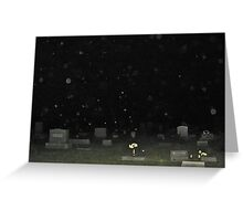 Converse, Indiana Cemetery Orbs Greeting Card