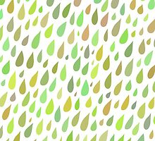Spring Rainy day pattern by HelgaScand
