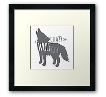 Crazy Wolf Guy Framed Print