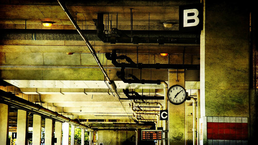 Waiting for the 7:13 by Cedric Canard