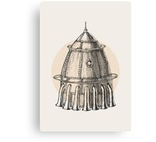 Steam punk rocket Canvas Print