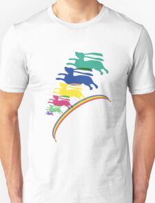 Somewhere over the rainbow... rabbits fly... T-Shirt