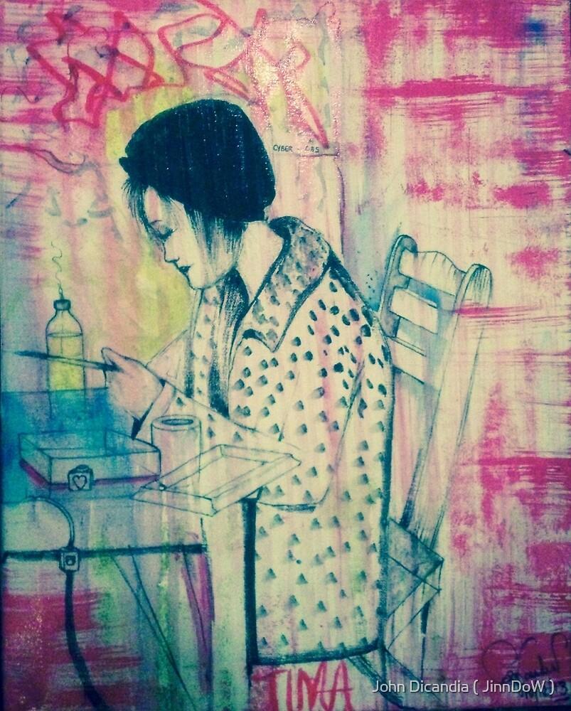 Tima ( On Canvas )  by John Dicandia ( JinnDoW )