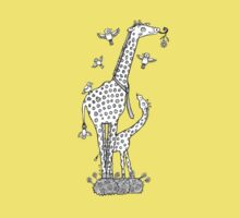Jolly Giraffes Tee by Anita Inverarity
