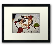 Dessert At Tramanto Framed Print