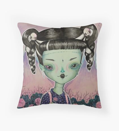 Frankie Goes To School Throw Pillow