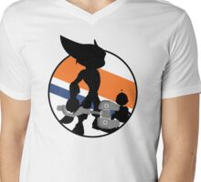 Ratchet & Clank Silhouette Mens V-Neck T-Shirt
