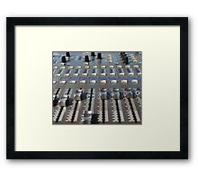 Mix Console Framed Print