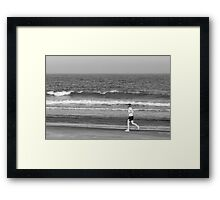 (Running with) The Rhythm Of The Ocean Framed Print