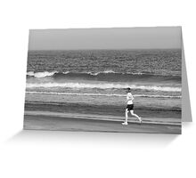 (Running with) The Rhythm Of The Ocean Greeting Card