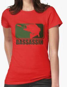 Bass assassin bass fishing humor Womens Fitted T-Shirt