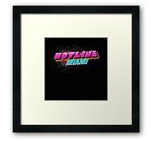 Hotline Miami ! Framed Print
