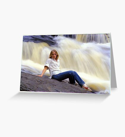 M. with Waterfall Greeting Card