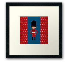 British Bearskin Cap Guard Framed Print