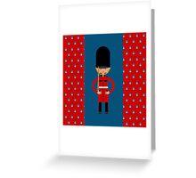 British Bearskin Cap Guard Greeting Card