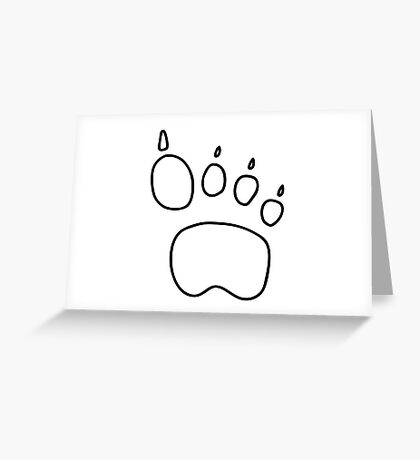 footprint bear wulf tiger Greeting Card