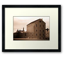 The Old Willson Carbide Mill and a View of Parliament Framed Print