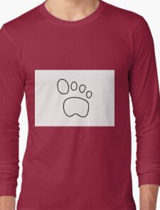 footprint dog cat animal Long Sleeve T-Shirt