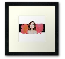 Lily Collins Xo Framed Print