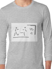 soccer shot at goal football Long Sleeve T-Shirt