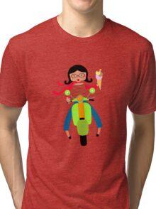 Italian girls love ice cream Tri-blend T-Shirt