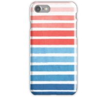 Summer Stripe - Nautical, classic, blue, red, pink, trendy cell phone case iPhone Case/Skin