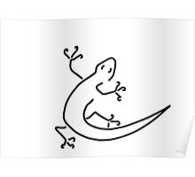 gecko salamander salamander bionics Poster