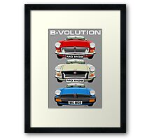 MG MGB evolution  Framed Print