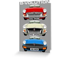 MG MGB evolution  Greeting Card