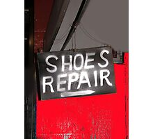 shoes! repair Photographic Print