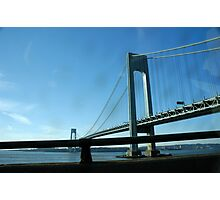The Verrazano-Narrows Bridge as Seen From the Belt Parkway Photographic Print