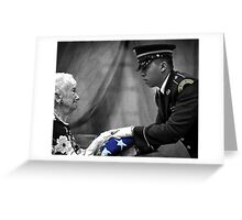 Courtesy Red White And Blue Greeting Card
