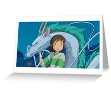 Spirited Away Feat. Sen Greeting Card