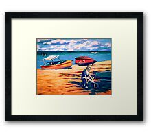 Beachcomber's Supper Framed Print