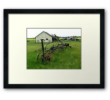 OLD FARM EQUIPMENT Framed Print