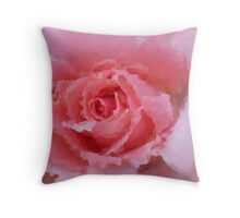 PINK ROSE IMPRESSION  Throw Pillow